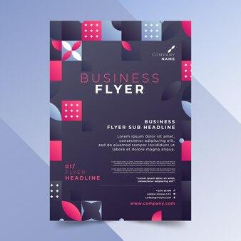 Gradient mosaic vertical flyer template