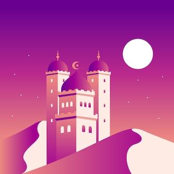 Gradient mosque illustration