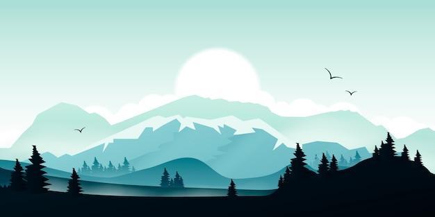 Gradiente paesaggio di montagna