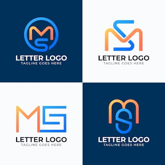 Gradient ms logo collection