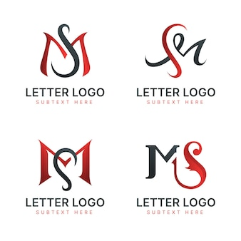 Gradient ms logo template collection