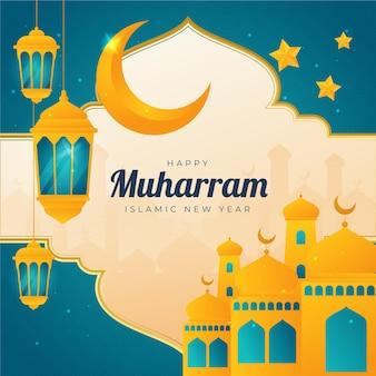 Illustrazione di gradiente muharram