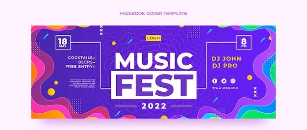 Gradient music festival facebook cover