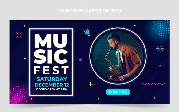 Post facebook del festival di musica sfumata