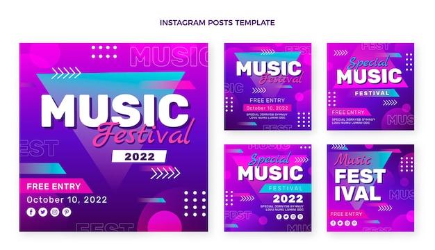 Посты в instagram на фестивале градиентной музыки