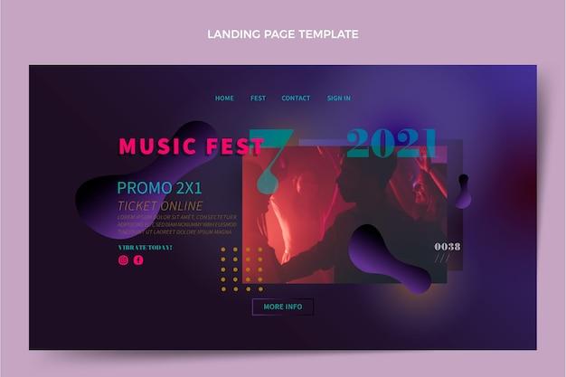 Gradient music festival landing page