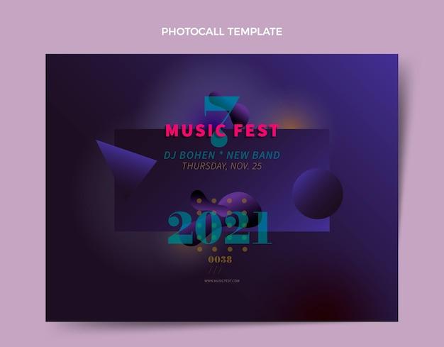 Gradient music festival photocall