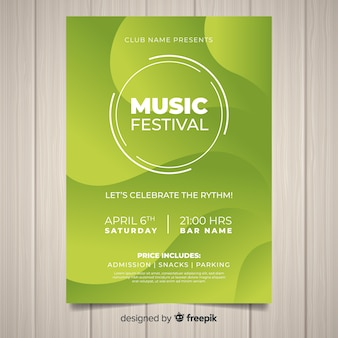 Gradient music festival poster template