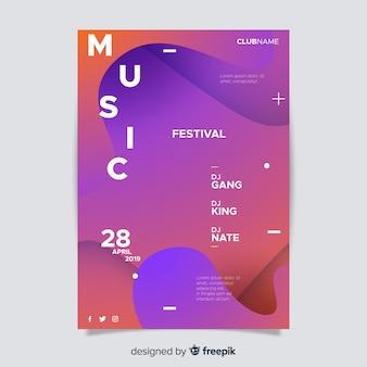 그라디언트 음악 축제 포스터 템플릿
