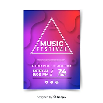 Gradient music festival poster