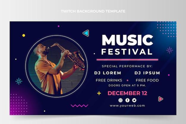 Gradient music festival twitch background