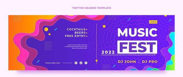 Gradient music festival twitter header