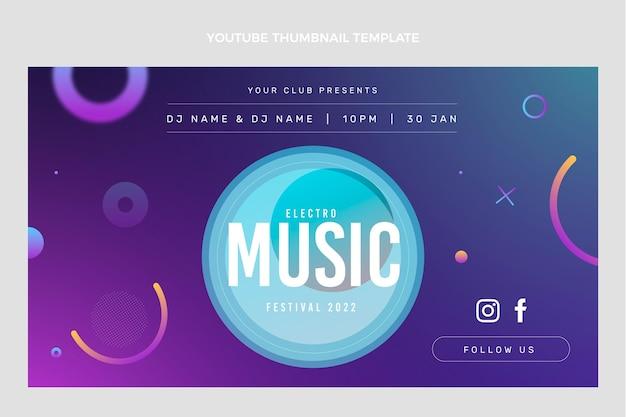 Фестиваль градиентной музыки youtube channel art