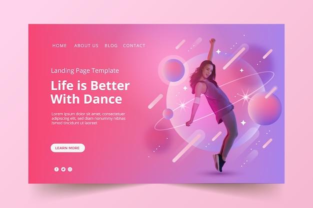 Gradient music landing page design