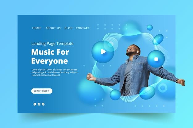그라디언트 음악 방문 페이지 디자인