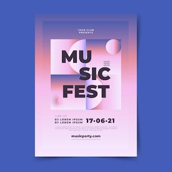 Design del poster musicale sfumato