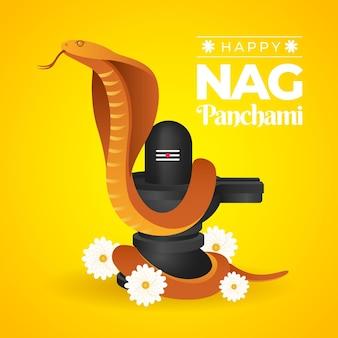 Gradient nag panchami illustration