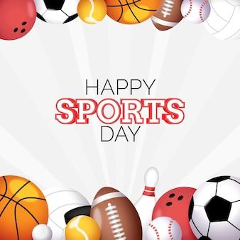 Illustrazione della giornata sportiva nazionale sfumata