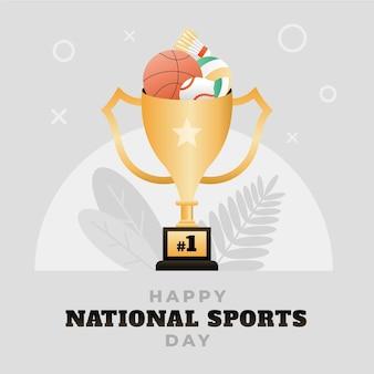 Градиентная иллюстрация дня национального спорта