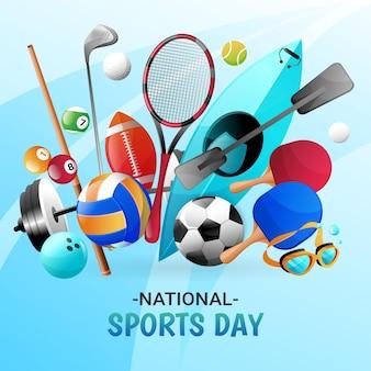 グラデーションインドネシア国民体育の日のイラスト