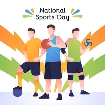 グラデーションの国民体育の日のイラスト