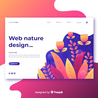 Gradient nature web design