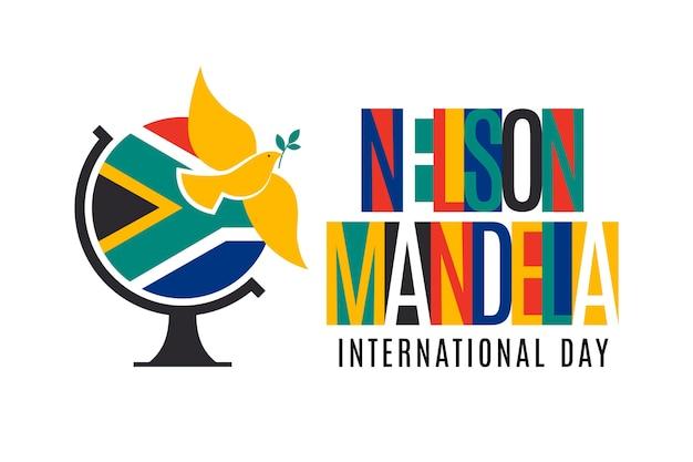 Градиент иллюстрация международного дня нельсона манделы