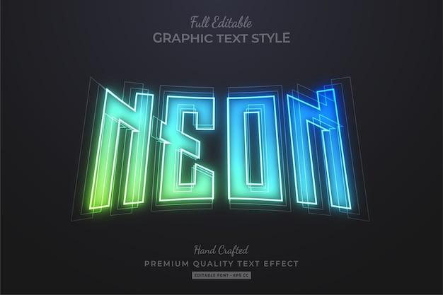 Gradient neon editable premium text effect