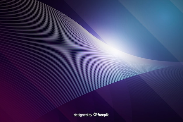 Gradient neon lights technology background