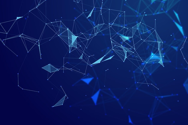 Sfondo di connessione di rete gradiente