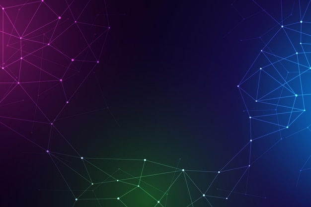 Gradient network connection background