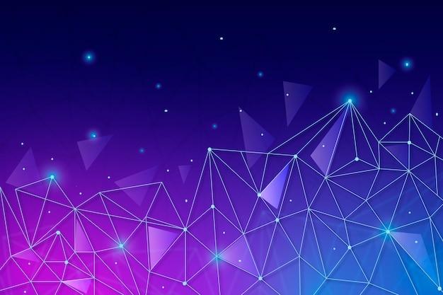 그라디언트 네트워크 연결 배경