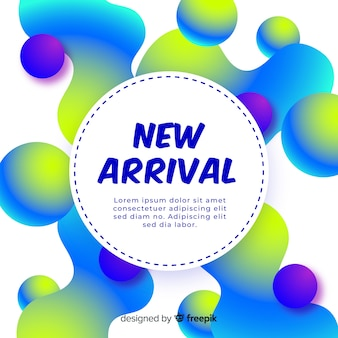 Gradient new arrival background
