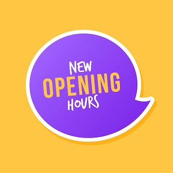 Gradient new opening hours sign