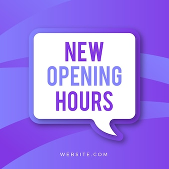 Segno di gradiente nuovo orario di apertura