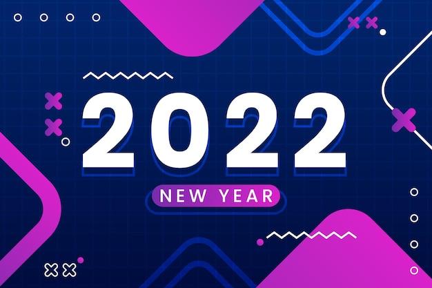 グラデーションの新年の背景