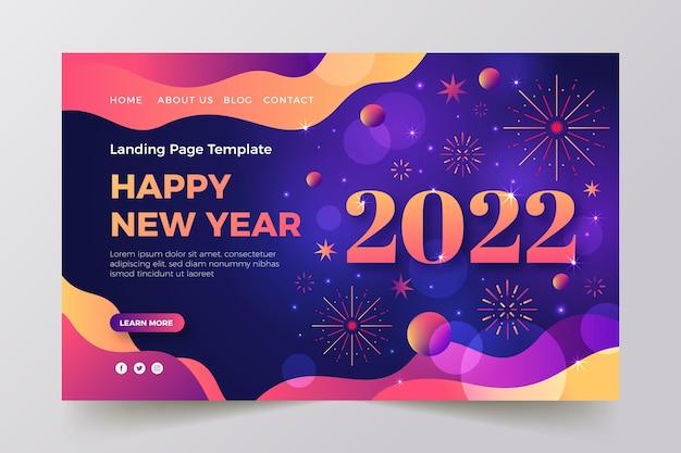 Modello di pagina di destinazione del nuovo anno sfumato