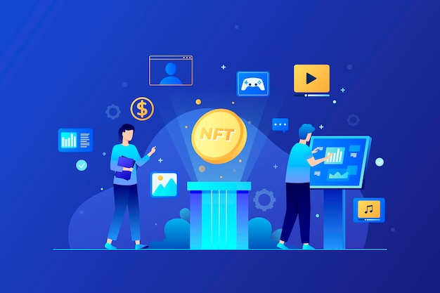 Gradient nft concept illustrated