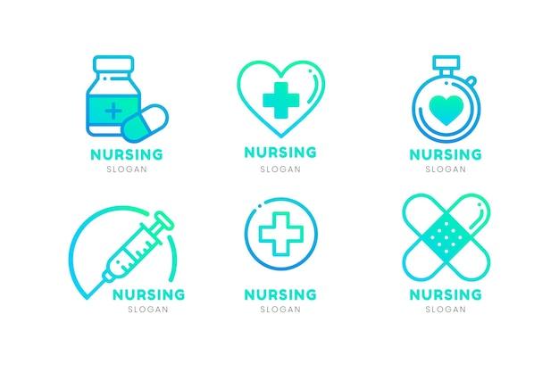 Gradient nurse logo collection