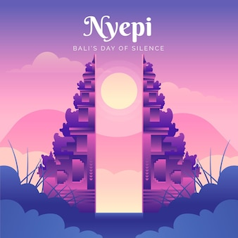 illustrazione di nyepi gradiente
