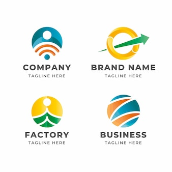 Gradient o logos template collection