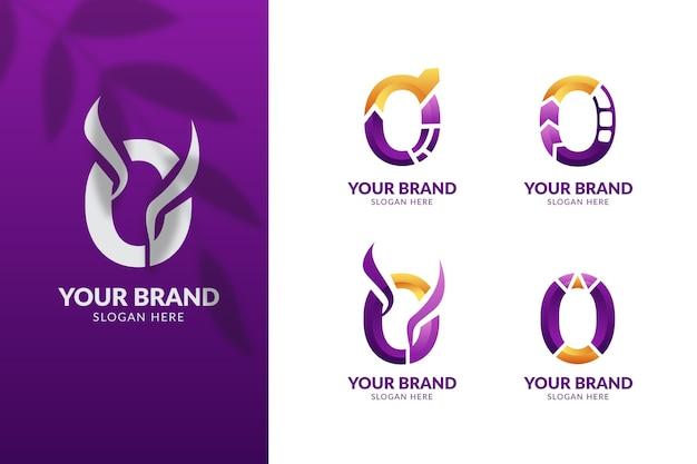 Gradient o logos template set