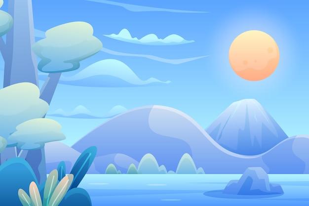 아름다운 풍경의 그라데이션