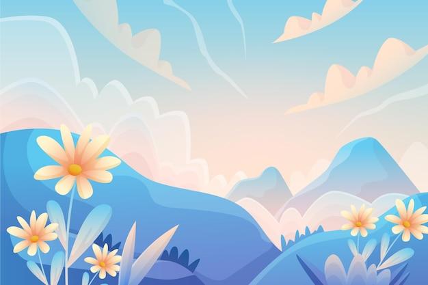 美しい風景のグラデーション