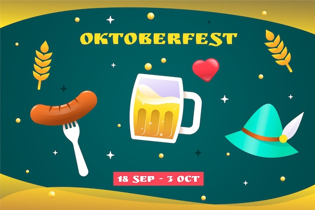 Gradient oktoberfest background