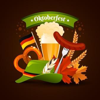 Gradient oktoberfest illustration