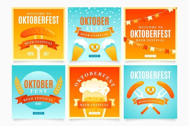 Raccolta di post instagram oktoberfest sfumata