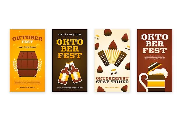 Gradient oktoberfest instagram stories collection