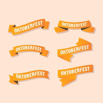 Gradient oktoberfest ribbons collection