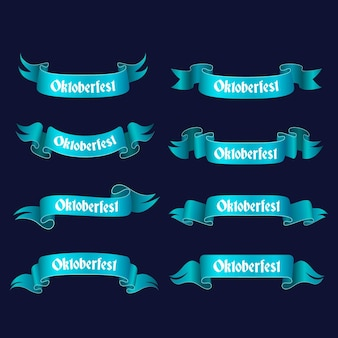 Коллекция градиентных лент октоберфест